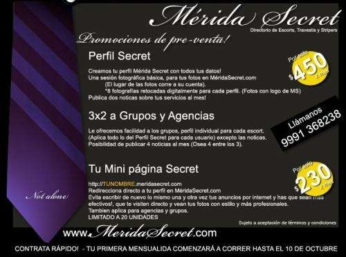 Mérida secret.com / para escorts -preventa de espacios